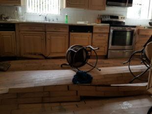kitchen flood damage
